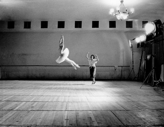 46Nina Ananiashvil with Main Teacher Raisa Struchkova Bolshoi Ballet Moscow Russia 1988