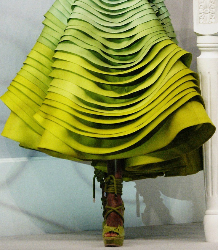 6Christian Dior lime green Haute Couture 2012