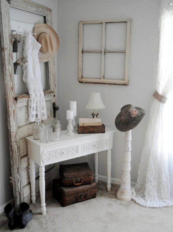 how to use old doors in home decor 16