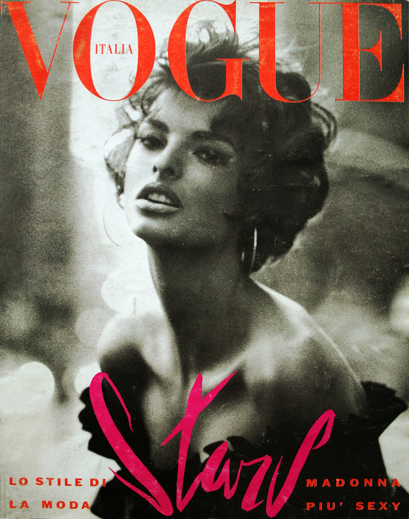 9Linda Evangelista Ph. by Steven Meisel Italian Vogue June 1990