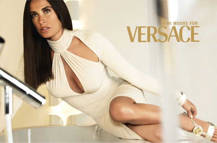 Demi Moore by Mario Testino Art Partner for Versace FW 2005
