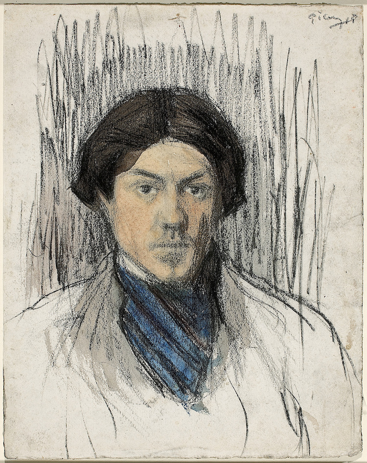 4picasso self portrait 1901
